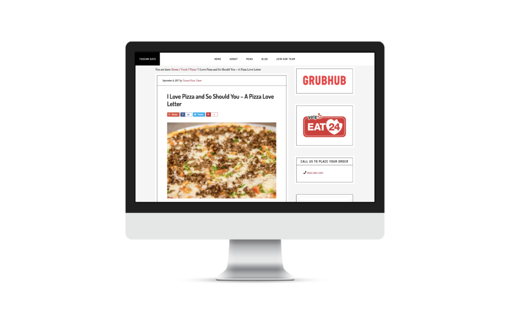 Tuscan Pizza Case Study | The Content Group | NJ SEO Company